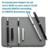 Balpen Stylus touchscreen zwart en zilver_